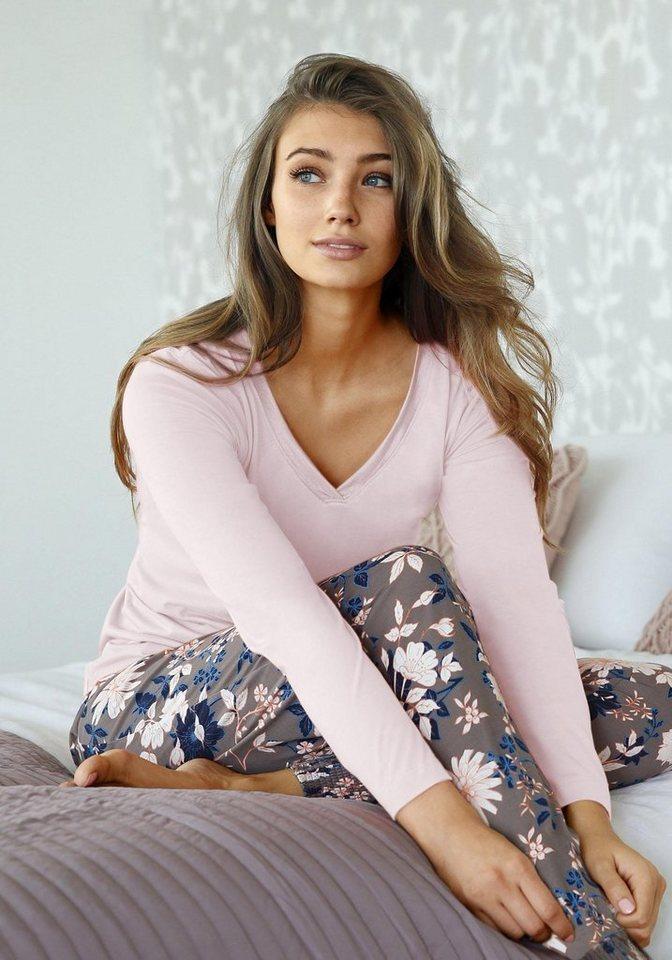 Pyjama, s.Oliver RED LABEL Bodywear in rosa/gemustert
