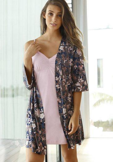 s.Oliver RED LABEL Bodywear Kimono mit Blumenprint
