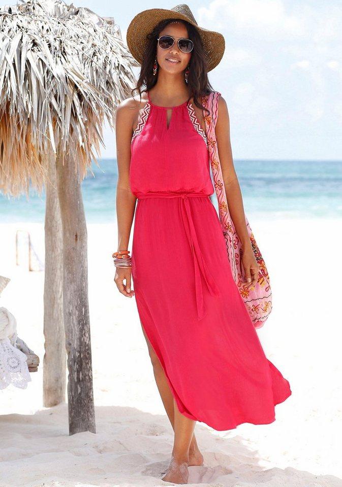 s.Oliver RED LABEL Beachwear Maxikleid in rot