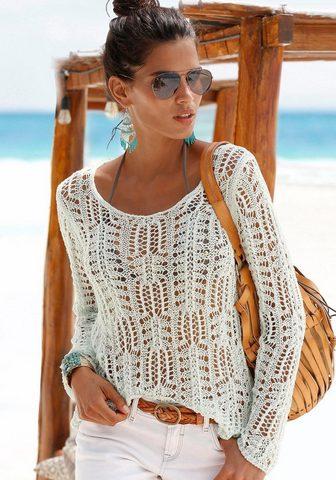 S.OLIVER BEACHWEAR S.Oliver Пляжный пуловер с круглым выр...