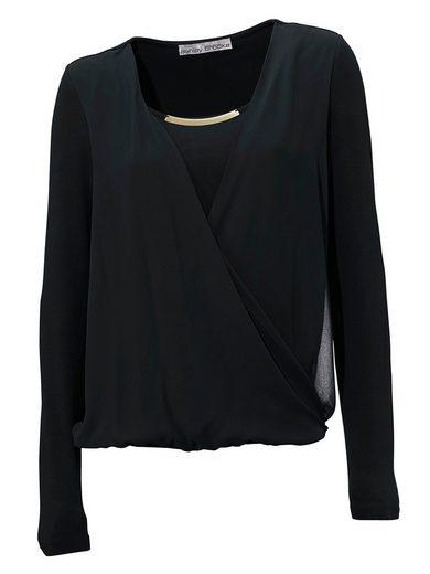 ASHLEY BROOKE by Heine Bodyform-Blusenshirt in Wickeloptik