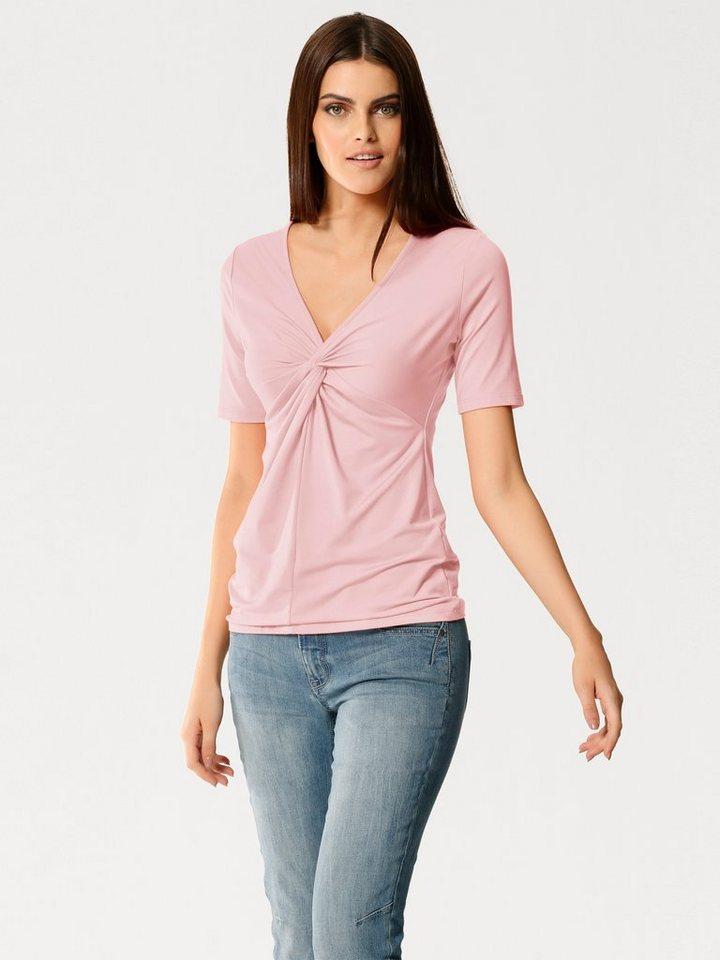 Knotenshirt in rosé