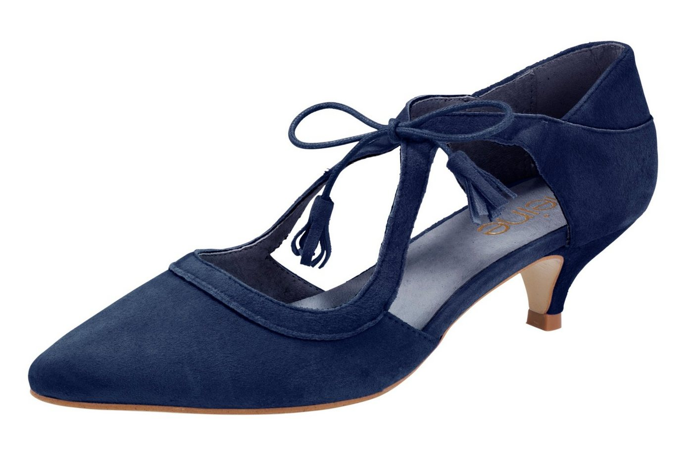 Heine Schnürpumps mit individueller Schnürung   Schuhe > Pumps > Schnürpumps   Blau   heine