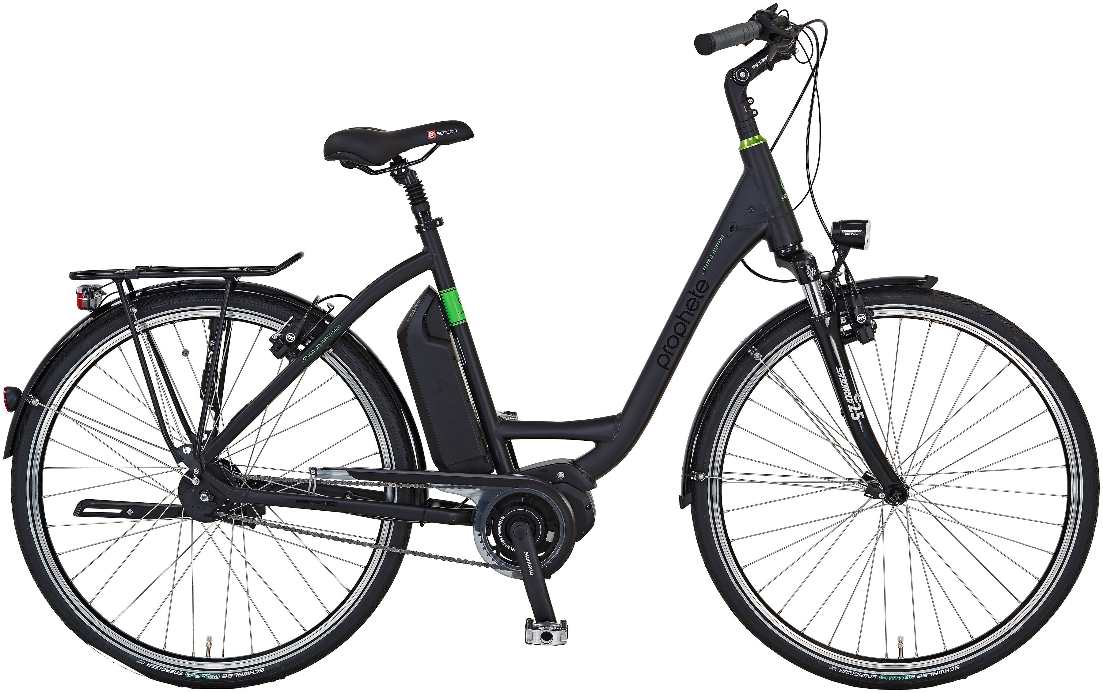 Prophete E-Bike City Damen »Limited Edition«, 28 Zoll, 8-Gang, Mittelmotor, 417 Wh, RH46