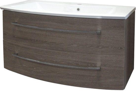 FACKELMANN Waschtisch »Rondo«, Breite 100 cm, (2-tlg.)