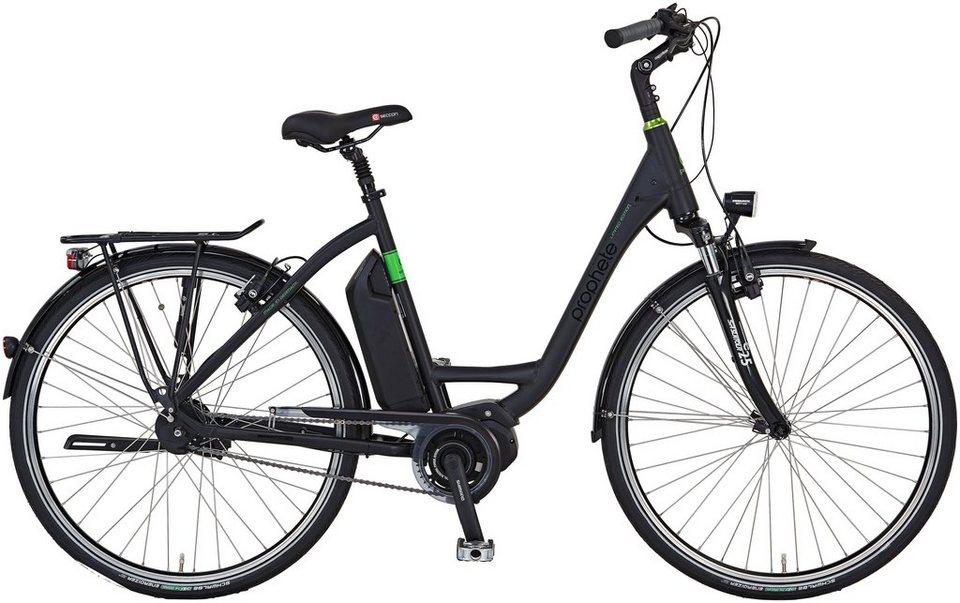 Prophete E-Bike City Damen »Limited Edition«, 28 Zoll, 8-Gang, Mittelmotor, 417 Wh, RH50 in schwarz