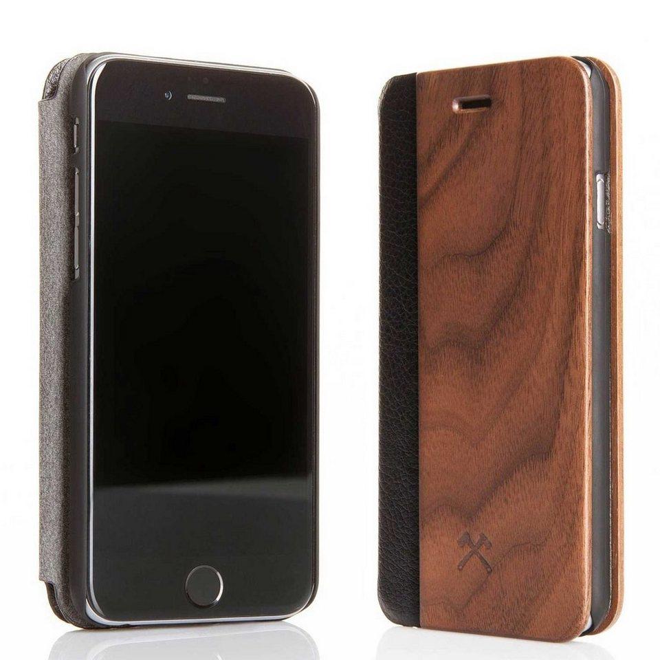 Woodcessories EcoCase - iPhone 6 / 6s Echtholz Flipcase - Donald in braun