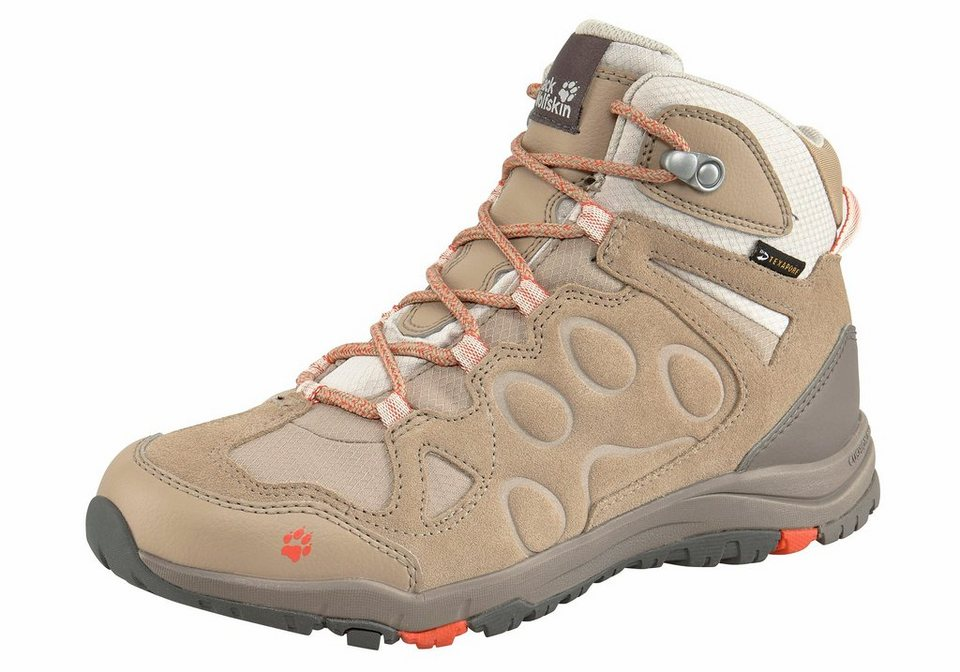 Jack Wolfskin »Rocksand Texapore Mid W« Outdoorschuh in sand-hellrosa