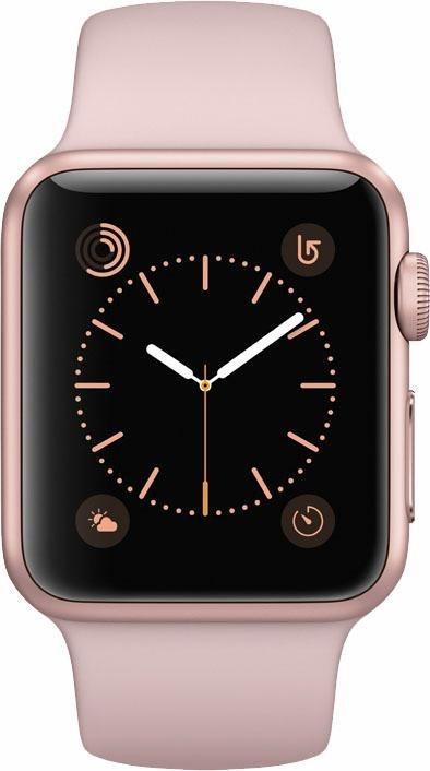 Apple Watch S1 Aluminiumgehäuse 38mm mit Sportarmband Smartwatch in Rose/Sand