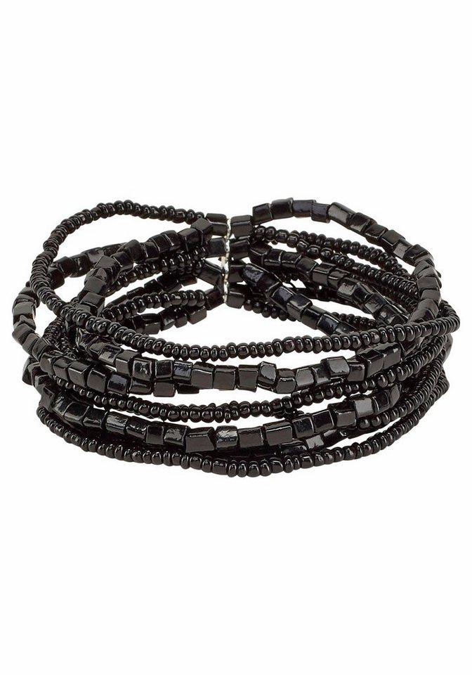 J. Jayz Armband mit Zierperlen in schwarz