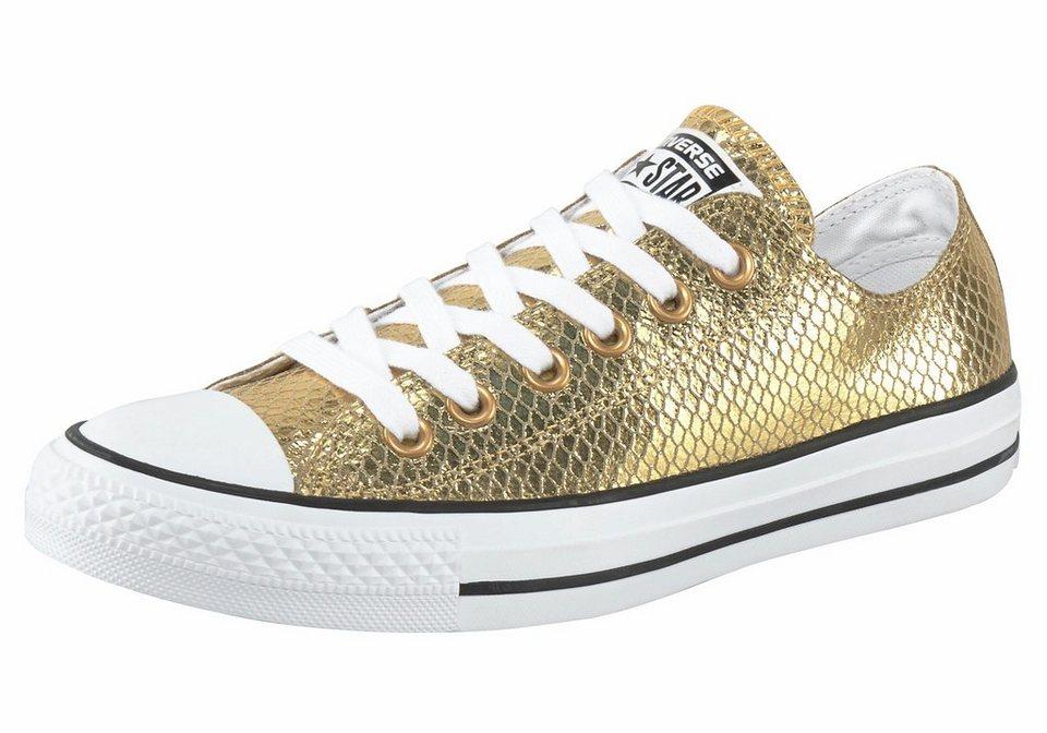 Converse »Chuck Taylor All Star Metallic Snake Ox« Sneaker in goldfarben-schwarz