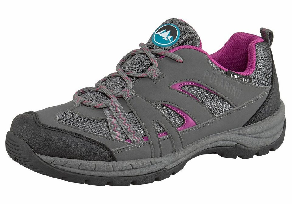 Polarino »Annapoura« Outdoorschuh in anthrazit-pink