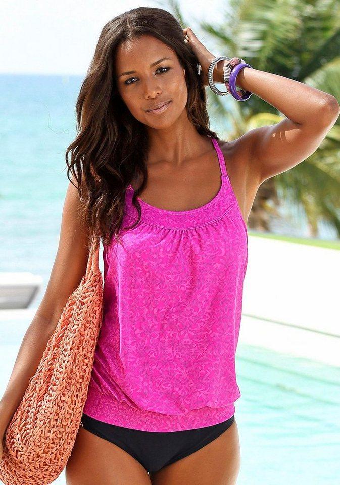 Damen Venice Beach Tankini im Alloverprint rosa, schwarz | 04893848563860