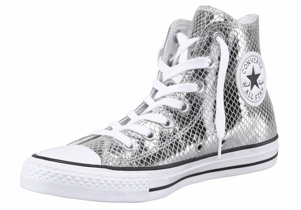 Converse »Chuck Taylor All Star Metallic Snake« Sneaker in silberfarben-schwarz
