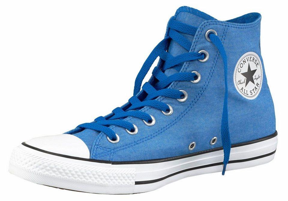Converse »Chuck Taylor All Star Chambray Hi« Sneaker in blau-weiß