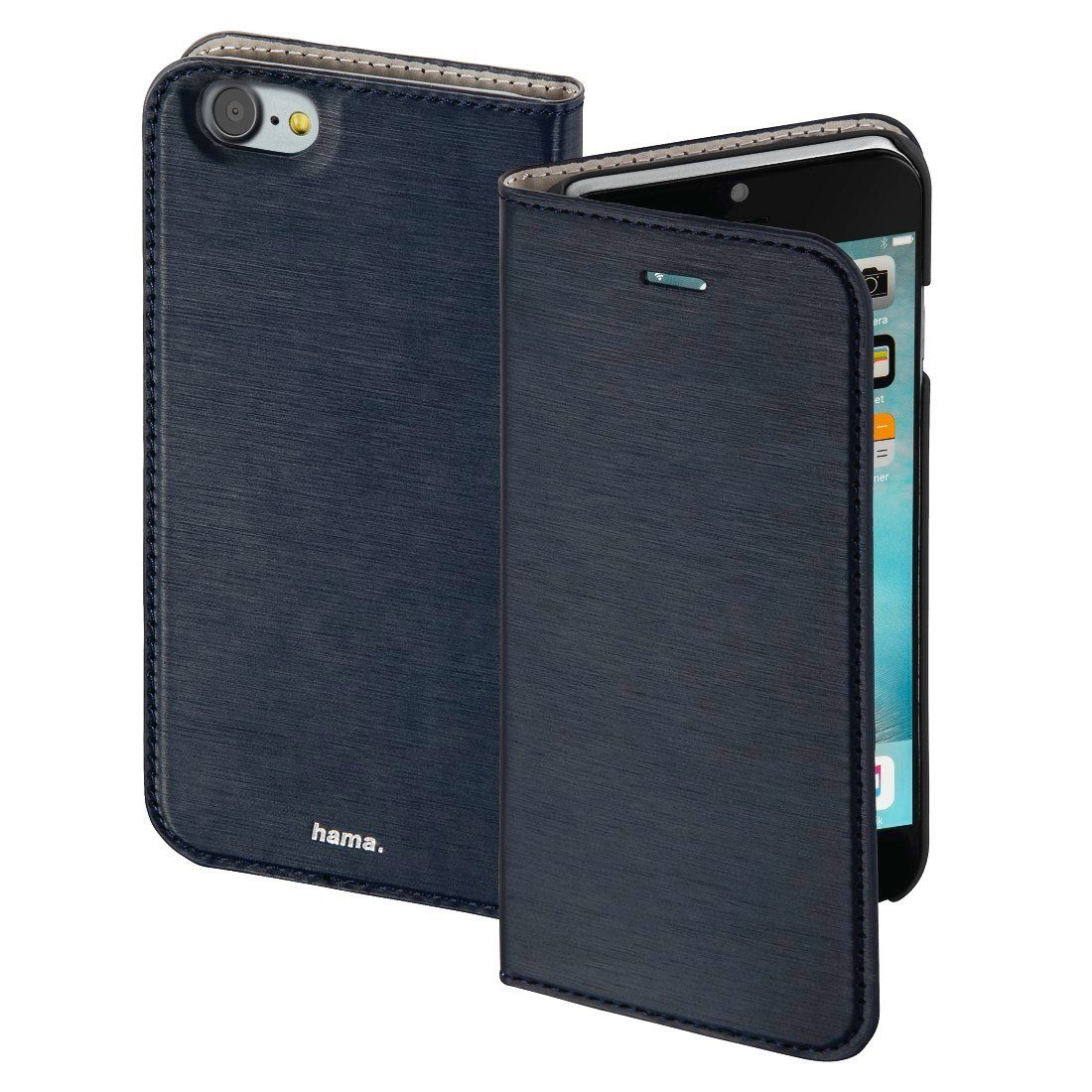 Hama Booklet Slim für Apple iPhone 7, Navy
