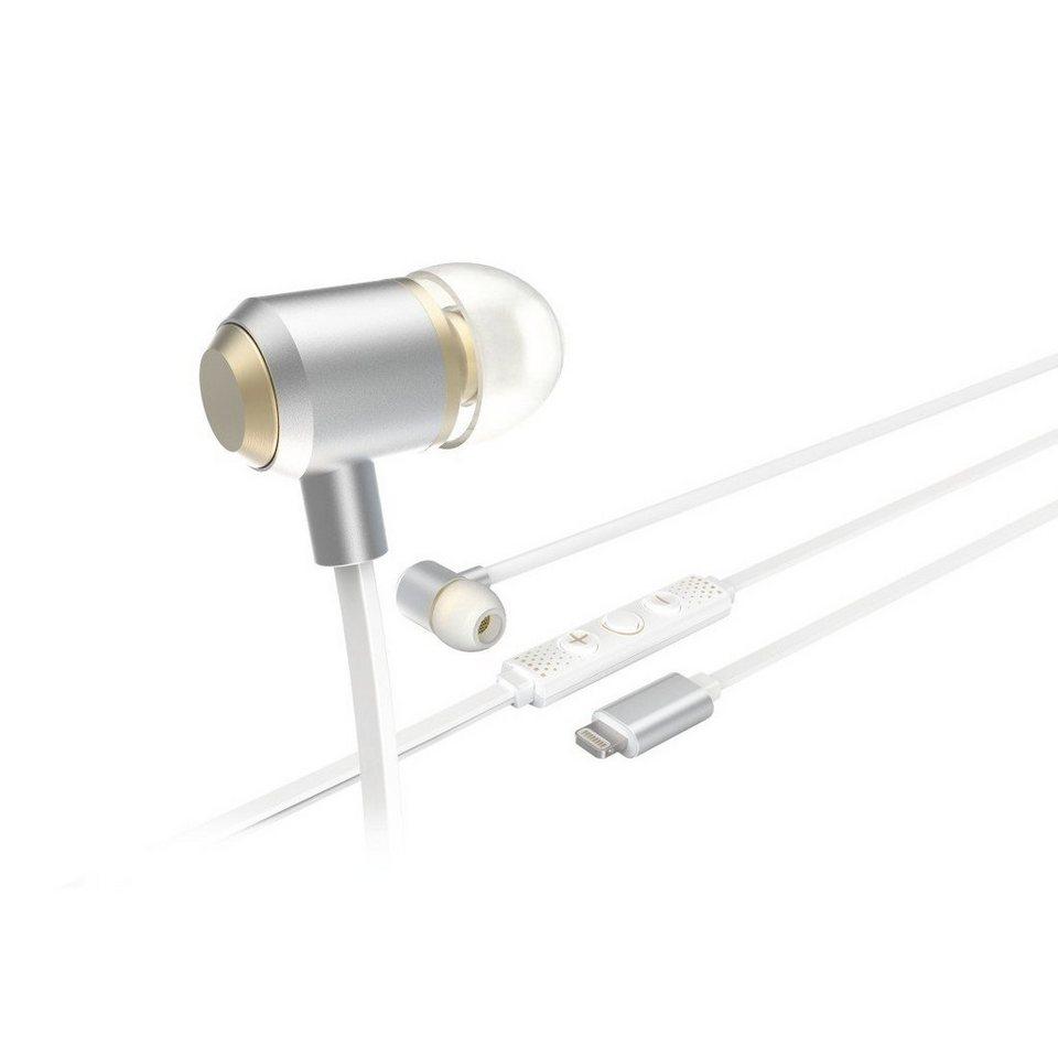 Hama In-Ear-Stereo-Ohrhörer HD MUSIC in Silber/Weiß
