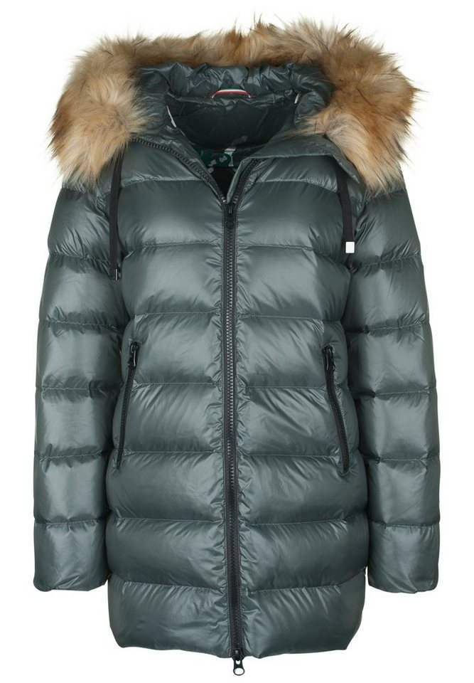No.1 Como Daunenjacke »NOLI FAKE FUR« in khaki