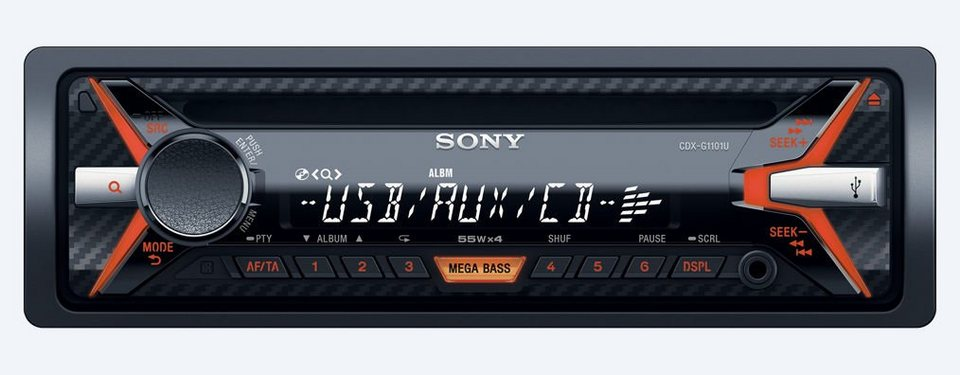 Sony 1-DIN Autoradio »DSX-A300DKITEI« in schwarz