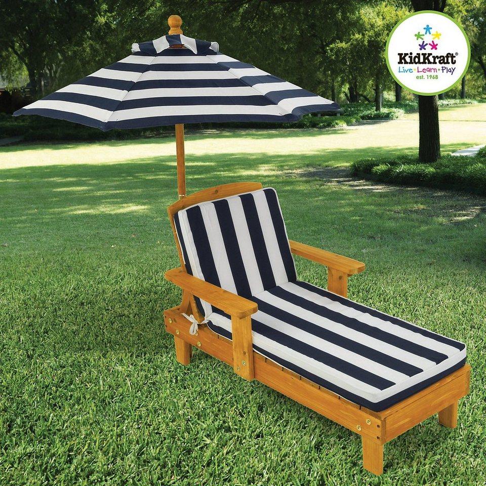 KidKraft Kinderliegestuhl mit Sonnenschirm