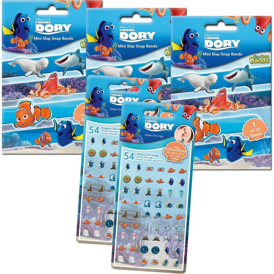 CRAZE 5in1 Set Mini Slap-Snap-Bands + Sticker-Earrings - Findet Do