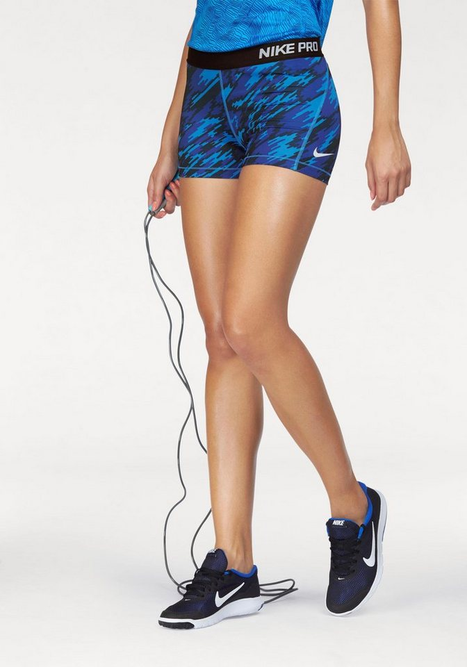 "Nike Funktionsshorts »PRO DRI-FIT SHORT 3"" OVERDRIVE« in blau-gemustert"