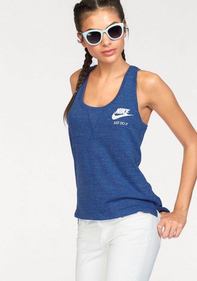 Nike Tanktop »NSW GYM VINTAGE TANK« in blau-meliert