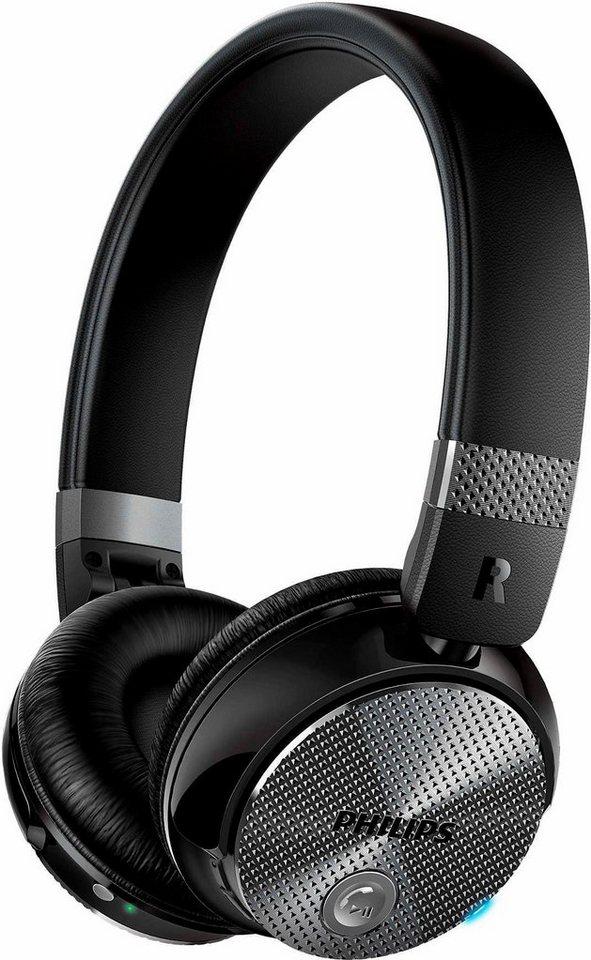 Philips SHB8850NC On-Ear-Kopfhörer, Active Noise Cancelling Geräuschreduzierung Bluetooth NFC in schwarz