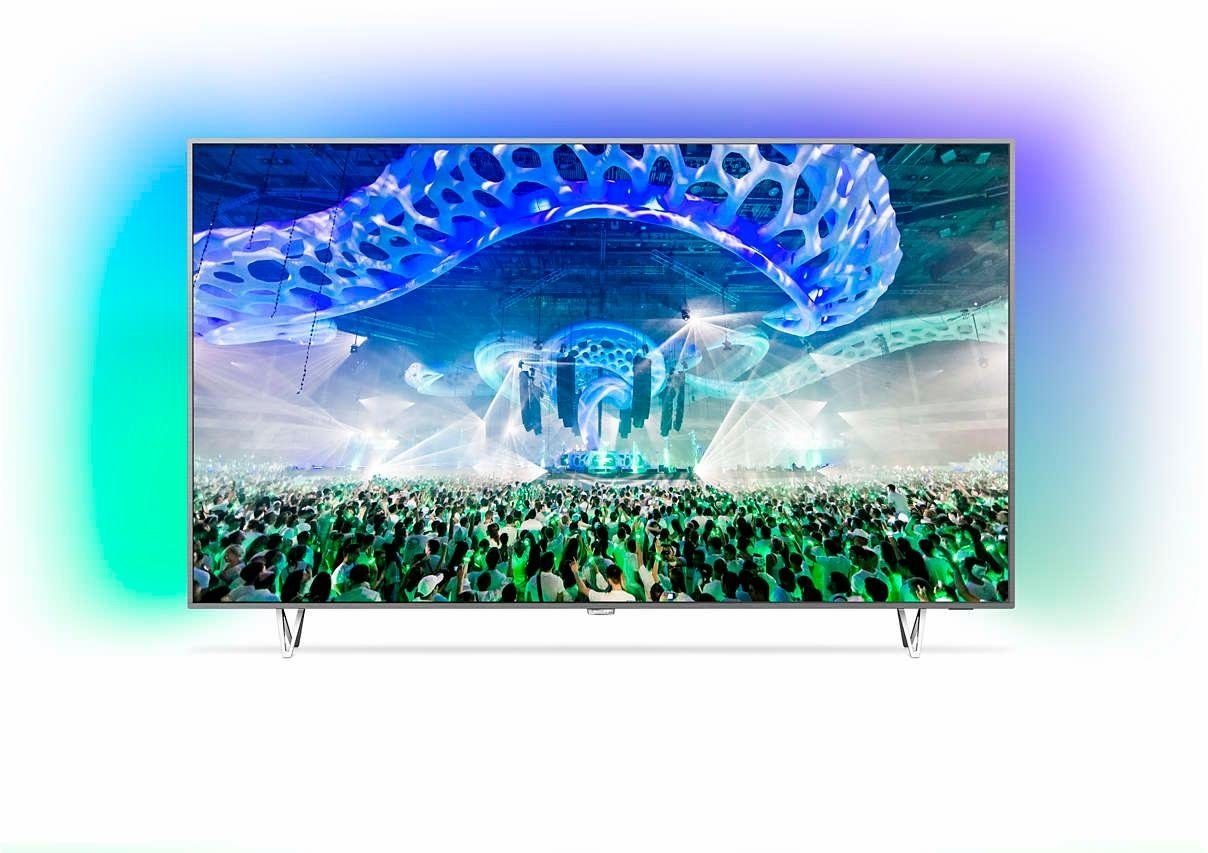 Philips 65PUS7601/12, LED Fernseher, 164 cm (65 Zoll), 2160p (4K Ultra HD) Ambilight, Smart-TV