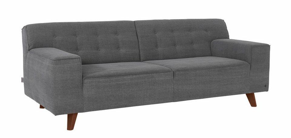 TOM TAILOR 2,5-Sitzer Sofa »NORDIC CHIC« im Retrolook, Füße nussbaumfarben in graphite TUS 9