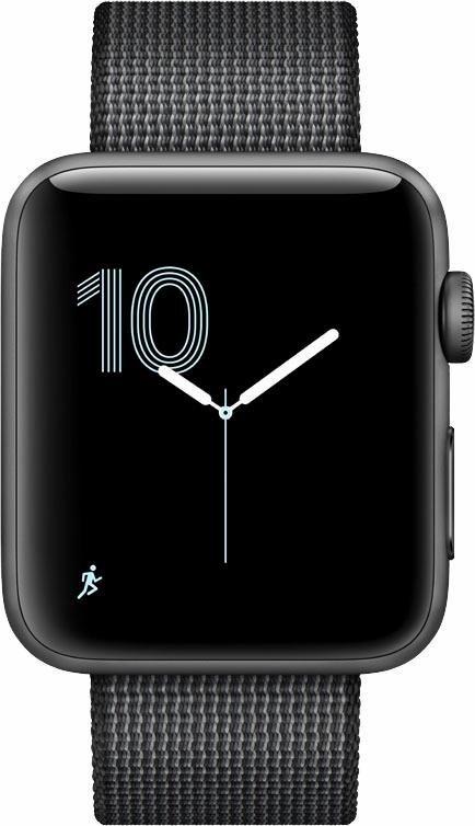 apple watch s2 aluminiumgeh use 42mm mit gewebtem nylon. Black Bedroom Furniture Sets. Home Design Ideas