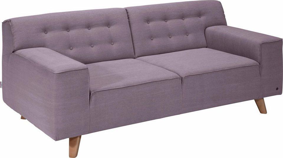 TOM TAILOR 2-Sitzer Sofa »NORDIC CHIC« im Retrolook, Füße Buche ...