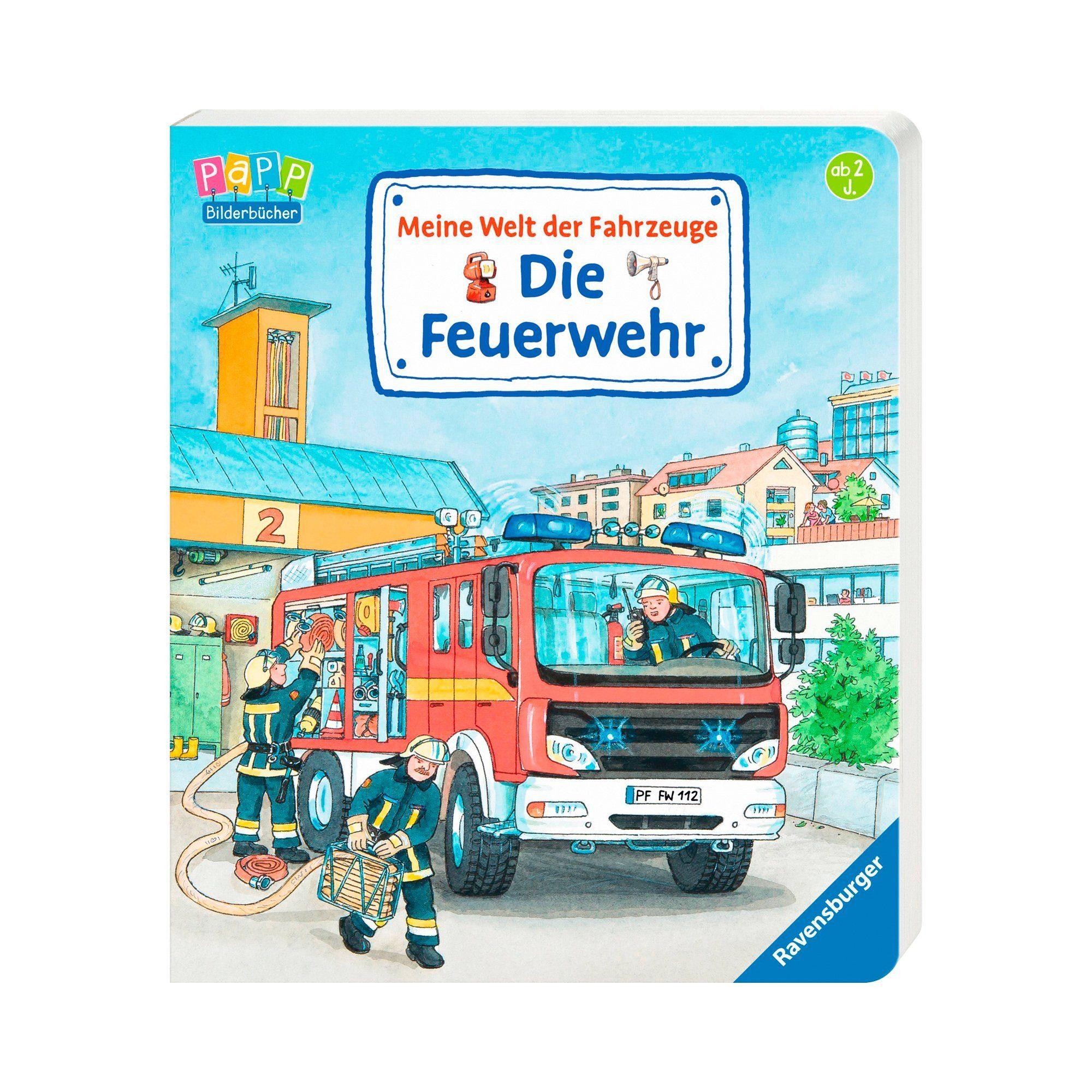Ravensburger Pappbilderbuch-Meine Welt der Fahrzeuge: Die Feuerwehr