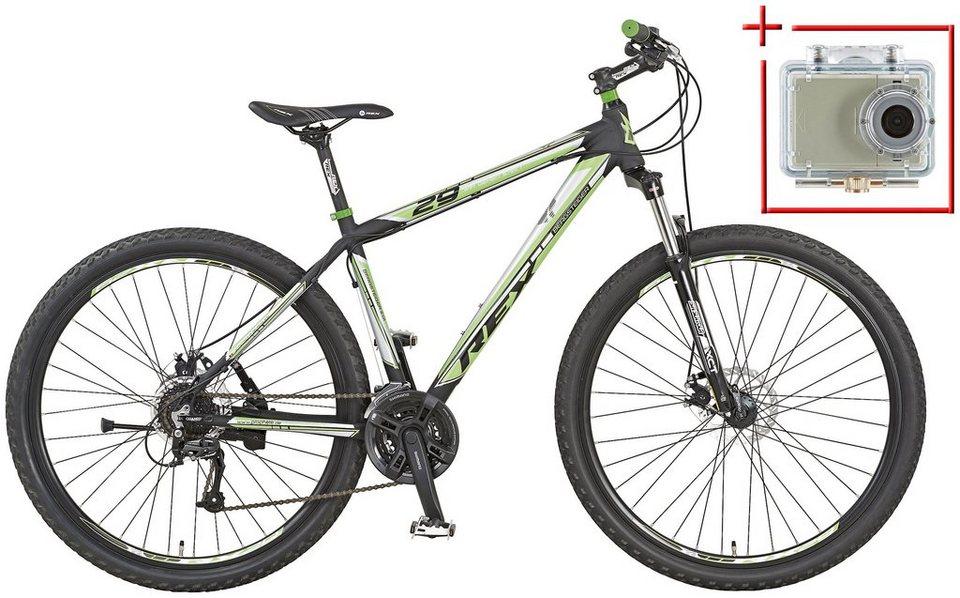 Mountainbike »Bergsteiger 2.01«, 29 Zoll, SHIMANO Acera 24 Gang, inkl. Action-Cam in schwarz