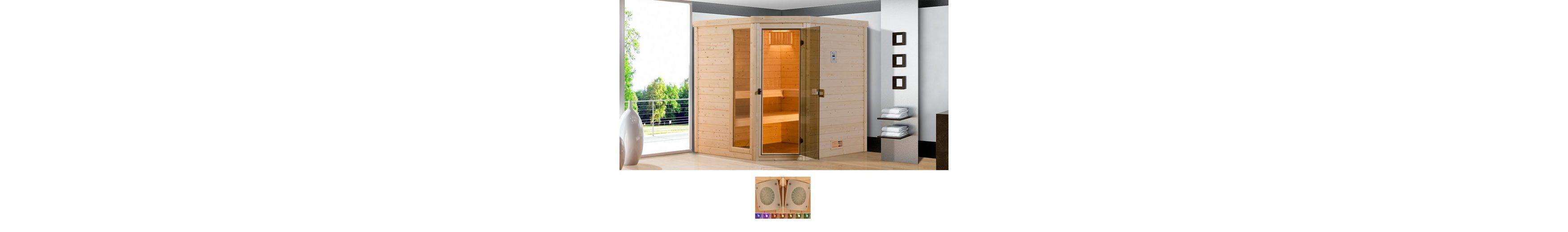 Sauna »Arendal 1«, 188/171/205 cm, 8-KW-Ofen mit int. Steuerung