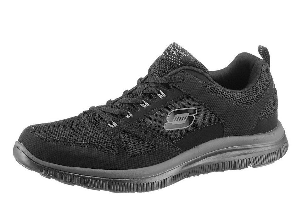 Skechers »Flex Advantage« Sneaker S-Logo auf der Seite in schwarz