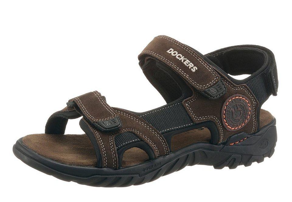 Dockers Sandale mit 3 Klettverschlüssen in khaki