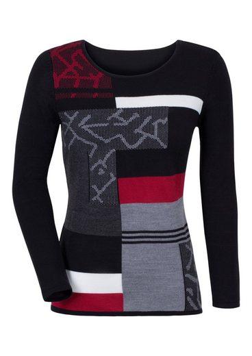 Classic Basics Pullover mit effektvollem Muster