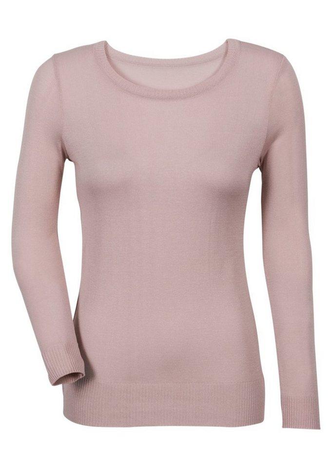 Classic Inspirationen Pullover in Feinstrick in rosé