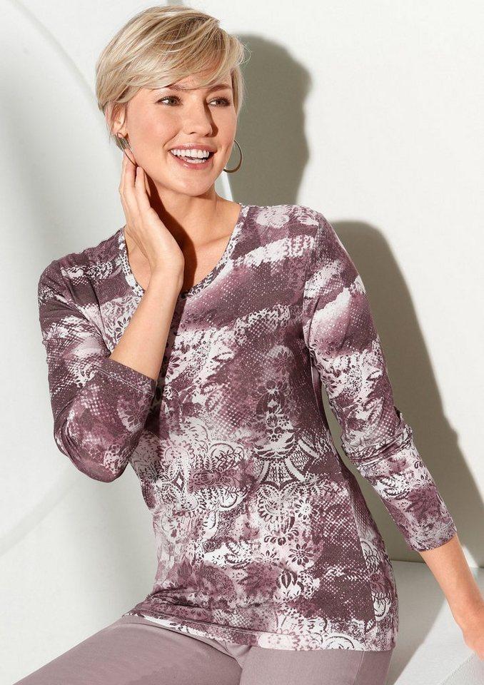 Classic Inspirationen Shirt mit Ornamentik-Druck in altrosé-bedruckt