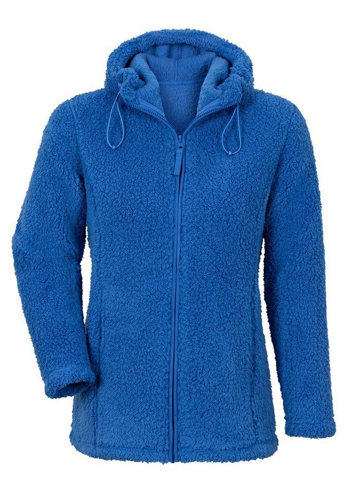 Collection L. Fleece-Jacke mit formgebenden Wiener Nähte in royalblau