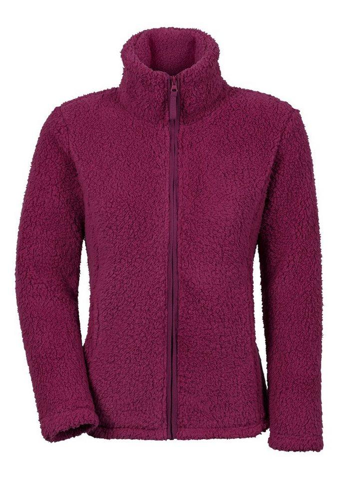 Collection L. Fleece-Jacke mit Umlegekragen in fuchsia