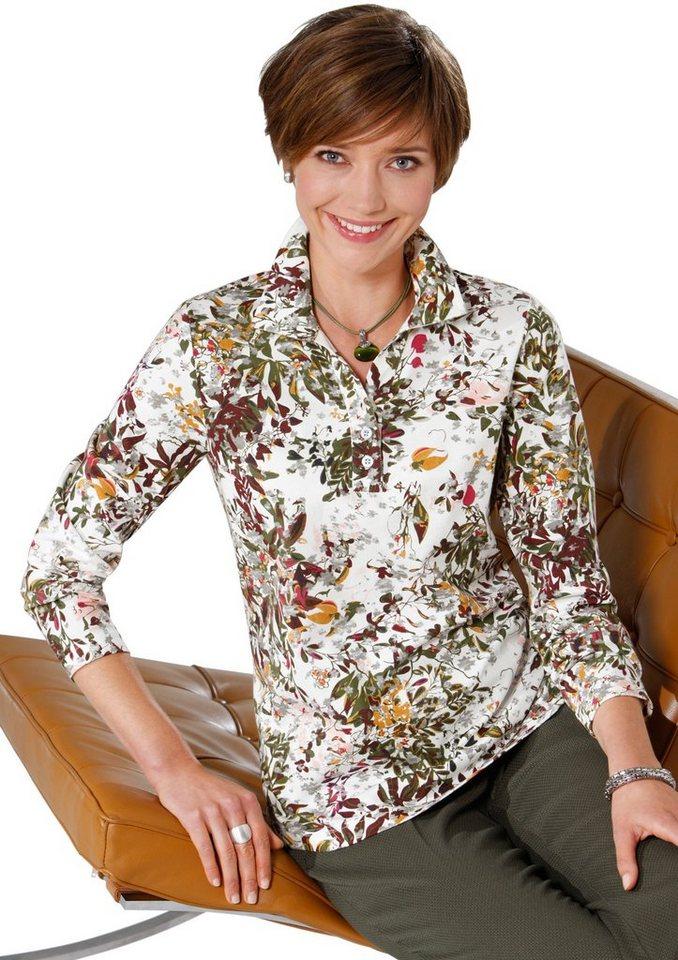 Classic Basics Shirt im Blümchenmuster in bunt-bedruckt