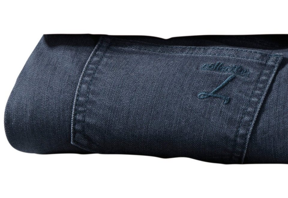 Collection L. Hose in 5-Pocket Form in jeansblau