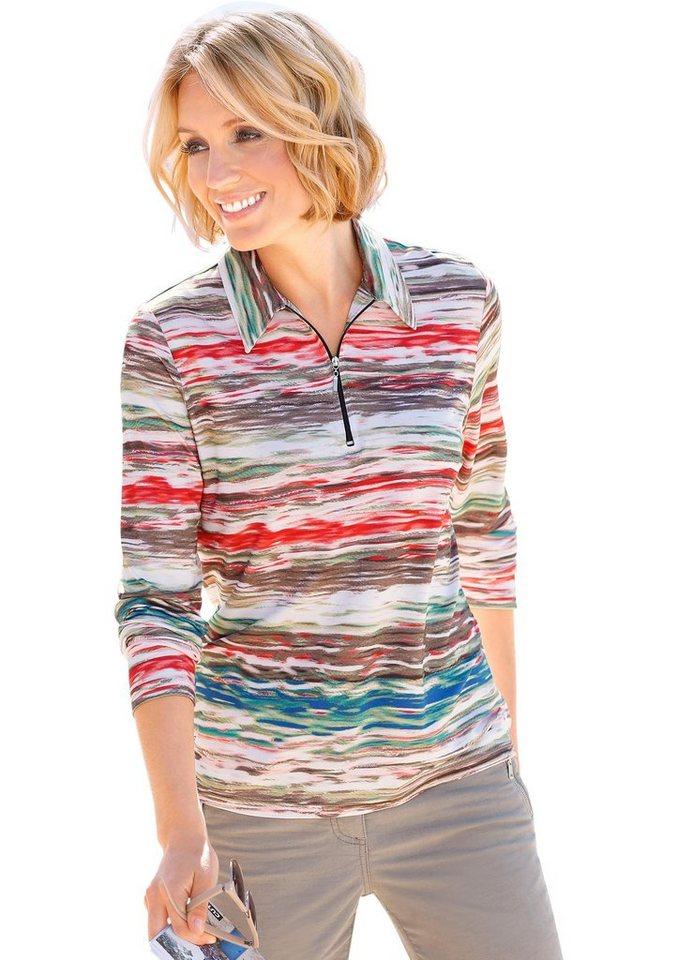 Collection L. Poloshirt mit farbenfrohem Druck in bunt-bedruckt