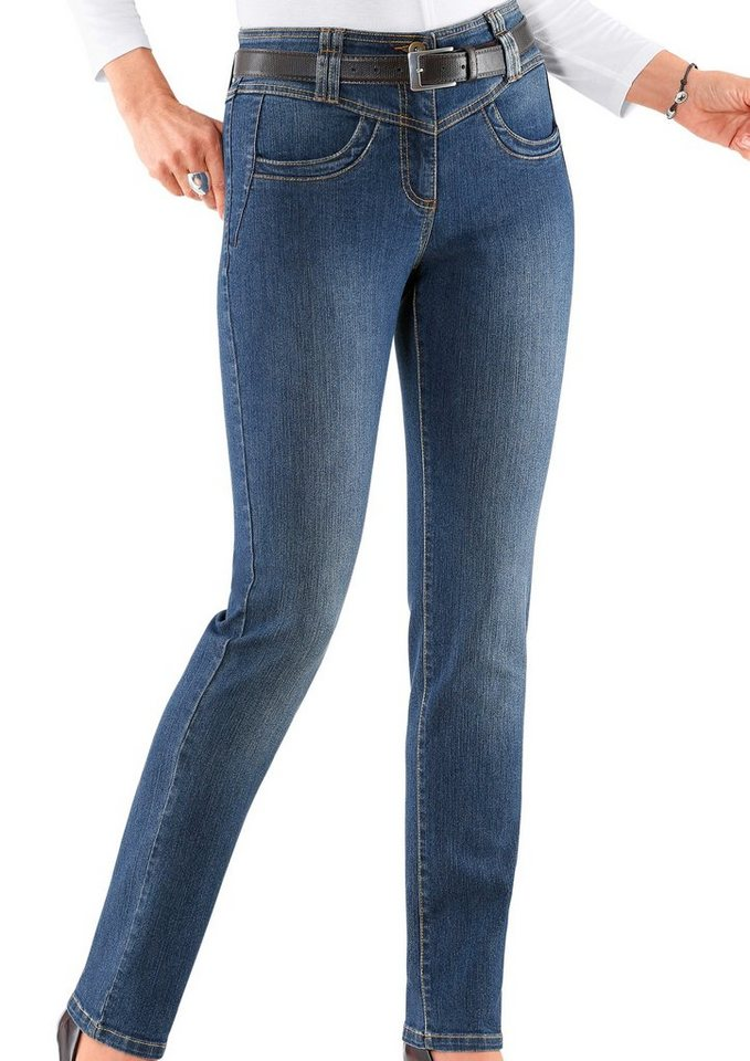 Classic Inspirationen Jeans mit tollen Details in blue-stone-washed