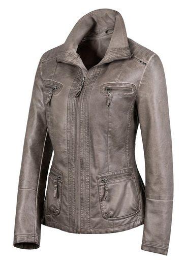 Mainpol Jacke aus weichem Leder-Imitat