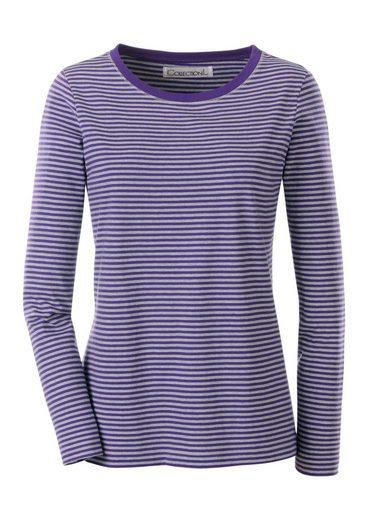 Collection L. Shirt im garngefärbten Melange-Ringel