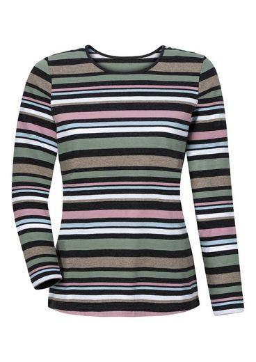 Collection L. Shirt im hochwertig garngefärbten Ringel
