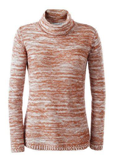 Collection L. Pullover aus weichem Melangegarn